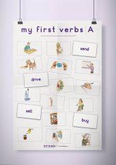 פוסטר שמשונית –  My First Verbs | A