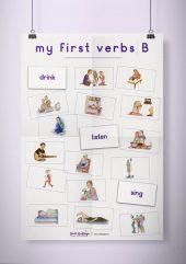 פוסטר שמשונית –  My First Verbs | B