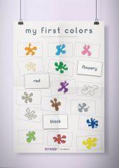 פוסטר שמשונית –  My First Colors