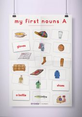 פוסטר שמשונית –  My First Nouns | A
