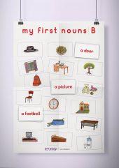 פוסטר שמשונית –  My First Nouns | B