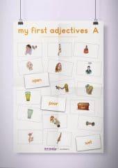 פוסטר שמשונית –  My First Adjectives | A