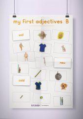 פוסטר שמשונית –  My First Adjectives | B